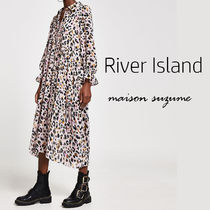 【River Island】ピンク レオパード プリント☆シャツワンピ