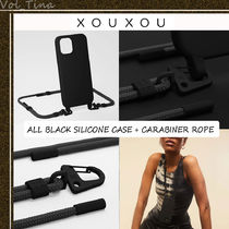 XOUXOU◆MODULAR / ALL BLACK SILICONE CASE + CARABINER ROPE