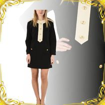 ☆SEAL☆Mini Dress with Golden buttons and contrasting