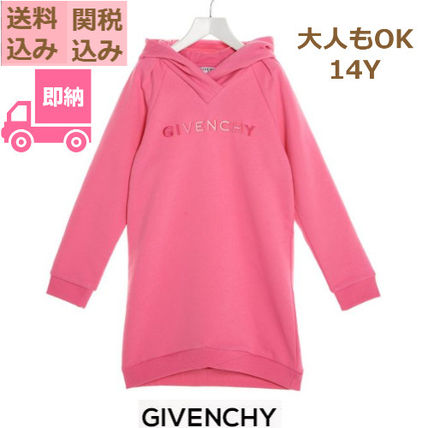 GIVENCHY(ジバンシィ) キッズワンピース・オールインワン 国内発送 GIVENCHY KIDS 大人OK! ロゴ パーカー ワンピース