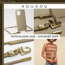 XOUXOU◆MODULAR / TAUPE SILICONE CASE + CARABINER ROPE