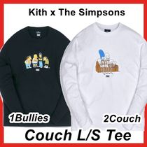 KITH NYC(キスニューヨークシティ) Tシャツ・カットソー Kith x The Simpsons Bullies Couch L/S Tee Black White 2021