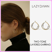 【LAZY DAWN】two-tone layered earring〜ピアス★ITZYユナ着用