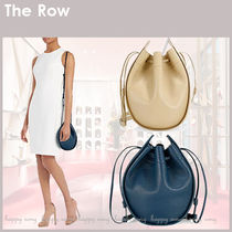 THE ROW◆Drawstring Pouch 2way レザー ポーチ