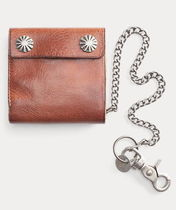 【RRL】Tumbled Leather Chain Wallet