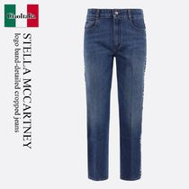 Stella Mccartney logo band-detailed cropped jeans