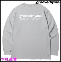 【GROOVERHYME】NYC LOCATION LONG SLEEVE T-SHIRTS(LIGHT GREY)