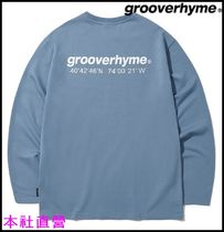 【GROOVERHYME】NYC LOCATION LONG SLEEVE T-SHIRTS(BLUE)