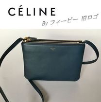 CELINE by フィービー旧ロゴ☆TRIO Small ブルー紺 Abyss Blue
