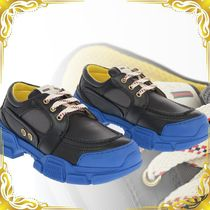 ☆SEAL☆ Soft Leather STREET STYLE PLAIN Track Sneakers