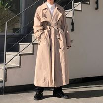 Back Button Detail Trench Coat (3Colors)