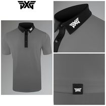 【PXG】☆ゴルフ☆ポロシャツ☆ ATHLETIC FIT GRAY TECH POLO