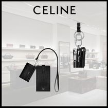 【21SS 新作】 CELINE PHONE AND CARD HOLDER IN GRAINED