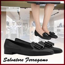 VIP☆Salvatore Ferragamo Double Bow スリッパ ブラック