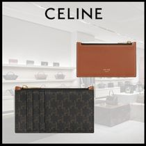 【21SS 新作】 CELINE ZIPPED CARD HOLDER IN TRIOMPHE CANVAS