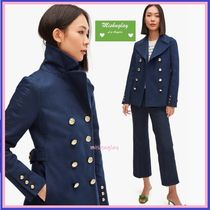 【kate spade】★cotton classic double-breasted peacoat★