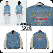 [ LMC ]★韓国大人気★LMC WASHED DENIM BASEBALL JACKET