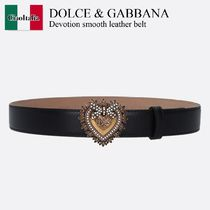 Dolce & Gabbana Devotion smooth leather belt