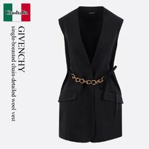 Givenchy single-breasted chain-detailed wool vest