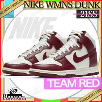 NIKE WMNS DUNK HIGH TEAM RED ウィメンズ ダンク チームレッド