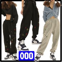 ★送料・関税込★ODD ONE OUT★Rose needlework sweatpant.s★