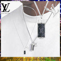 Louis Vuitton☆コリエチャームズ モノグラム ネックレス silver