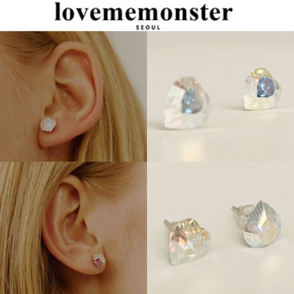★人氣★LOVE ME MONSTER★Swarovski Heart Earrings