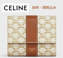 新作 CELINE 先行発売 SMALL TRIFOLD WALLET TRIOMPHE CANVAS