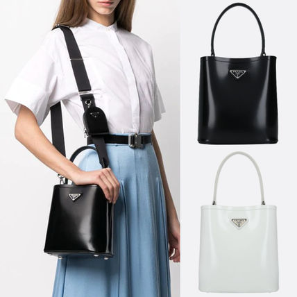 PR2497 PANIER BAG IN SHINY LEATHER WITH POUCH