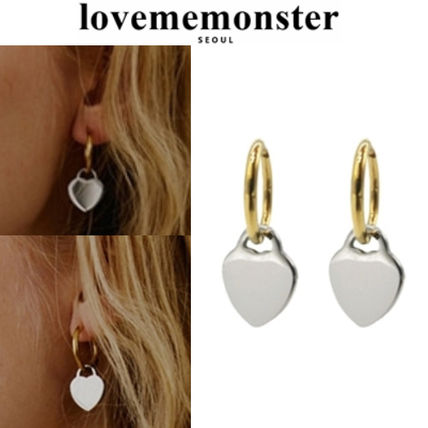 ★人氣★LOVE ME MONSTER★Retro Heart Ring Earrings