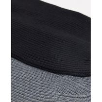 ASOS DESIGN 2 pack slouchy beanie in grey and blac