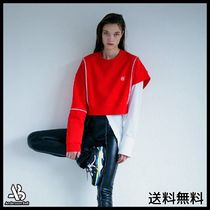 ANDERSSON BELL(アンダースンベル) スウェット・トレーナー [ANDERSSONBELL]SIGNATURE EMBLEM CROPPED SWEATSHIRT RED
