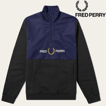 【FRED PERRY】ハーフジップ ロゴ スウェット