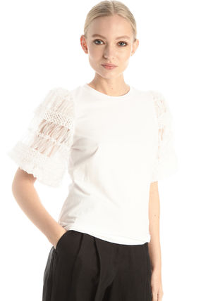 Diffusione Tessile Tシャツ・カットソー DT * Weekend Max Mara *EXPLOIT* コットン ジャージー Tシャツ(5)