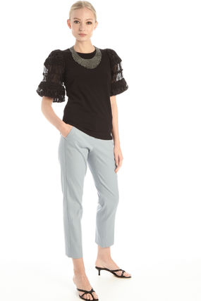 Diffusione Tessile Tシャツ・カットソー DT * Weekend Max Mara *EXPLOIT* コットン ジャージー Tシャツ(10)