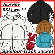 Supreme Spellout Track Jacket SS 21 2021 WEEK 1