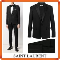 SAINT LAURENT silk-trimmed tuxedo jacket