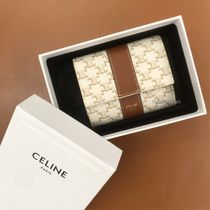 追跡付【CELINE】SMALL TRIFOLD WALLET IN TRIOMPHE CANVAS