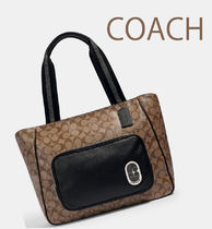 COACH◆Court Tote Signatureトートバッグ 1708-A4可(追跡付き)