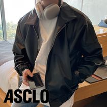 ASCLO Crop Leather Jumper