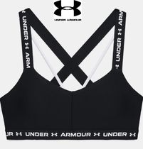 【UNDER ARMOUR】Crossback Lowなめらか素材スポーツブラ★黒