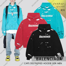【BALENCIAGA】21SS CAPS DESTROYED ロゴ フーディー