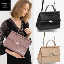 ★Charles & Keith★ Crocodile Leather Shoulder  & Tote ★3色