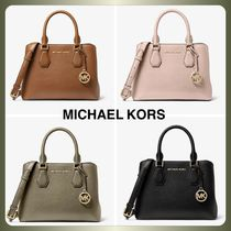 【MICHAEL KORS】Camille Small Pebbled Leather Satchel