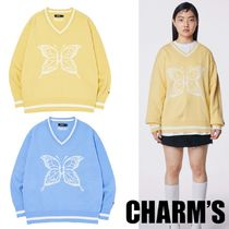 Charm's(チャームス) ニット・セーター 日本未入荷★CHARM'S★CHARMS BUTTERFLY V NECK KNIT