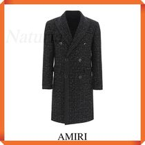 Amiri Double-breasted Boucle' Coat With Lame'