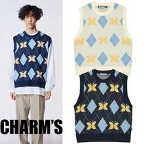 Charm's(チャームス) ベスト・ジレ 日本未入荷★CHARM'S★CHARMS BUTTERFLY ARGYLE KNIT VEST