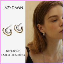 【LAZY DAWN】two-tone layered earring E010〜ピアス