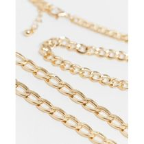Reclaimed Vintage inspired gold chain multipack of