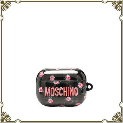 ☆MOSCHINO☆フローラル ロゴ AirPods Pro ケース